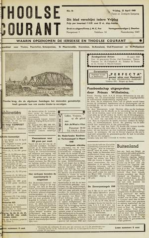 Ierseksche en Thoolsche Courant 1949-04-22
