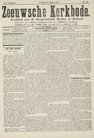 Zeeuwsche kerkbode, weekblad gewijd aan de belangen der gereformeerde kerken/ Zeeuwsch kerkblad 1917-03-30
