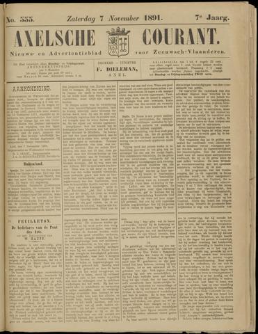Axelsche Courant 1891-11-07