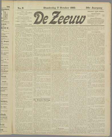 De Zeeuw. Christelijk-historisch nieuwsblad voor Zeeland 1915-10-07
