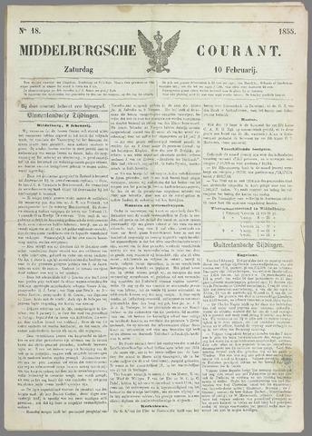 Middelburgsche Courant 1855-02-10
