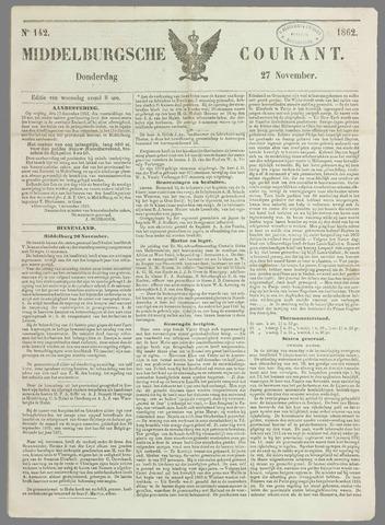 Middelburgsche Courant 1862-11-27