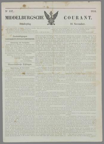 Middelburgsche Courant 1854-11-16