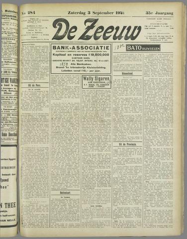 De Zeeuw. Christelijk-historisch nieuwsblad voor Zeeland 1921-09-03