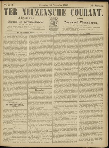 Ter Neuzensche Courant. Algemeen Nieuws- en Advertentieblad voor Zeeuwsch-Vlaanderen / Neuzensche Courant ... (idem) / (Algemeen) nieuws en advertentieblad voor Zeeuwsch-Vlaanderen 1886-11-10