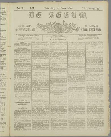 De Zeeuw. Christelijk-historisch nieuwsblad voor Zeeland 1911-11-04