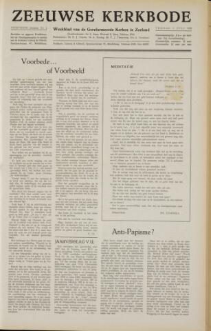 Zeeuwsche kerkbode, weekblad gewijd aan de belangen der gereformeerde kerken/ Zeeuwsch kerkblad 1958-07-04