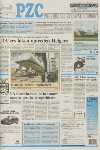 Provinciale Zeeuwse Courant 1995-05-13