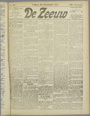 De Zeeuw. Christelijk-historisch nieuwsblad voor Zeeland 1917-12-28