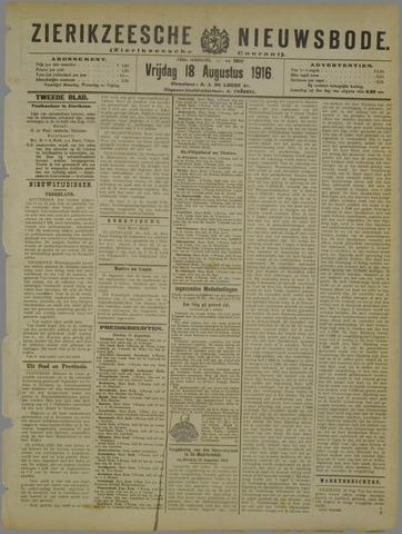 Zierikzeesche Nieuwsbode 1916-08-18