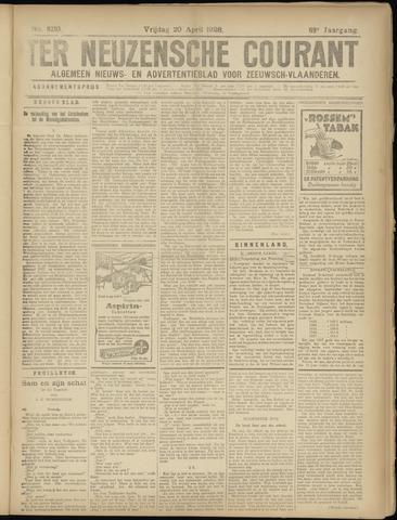 Ter Neuzensche Courant. Algemeen Nieuws- en Advertentieblad voor Zeeuwsch-Vlaanderen / Neuzensche Courant ... (idem) / (Algemeen) nieuws en advertentieblad voor Zeeuwsch-Vlaanderen 1928-04-20