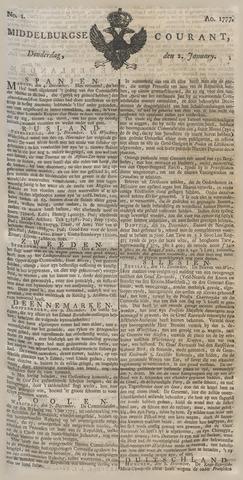 Middelburgsche Courant 1777
