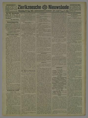 Zierikzeesche Nieuwsbode 1923-08-29