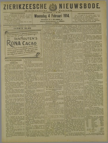 Zierikzeesche Nieuwsbode 1914-02-04