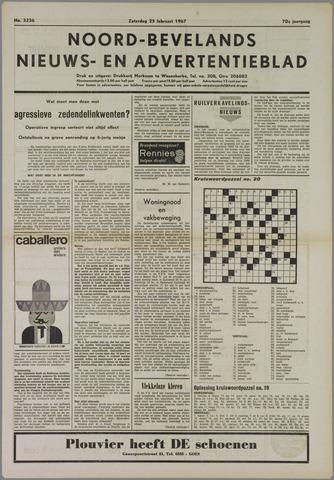 Noord-Bevelands Nieuws- en advertentieblad 1967-02-25