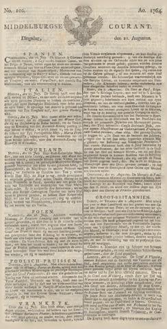 Middelburgsche Courant 1764-08-21