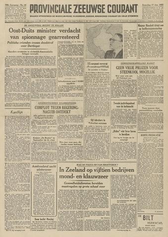 Provinciale Zeeuwse Courant 1953-01-17
