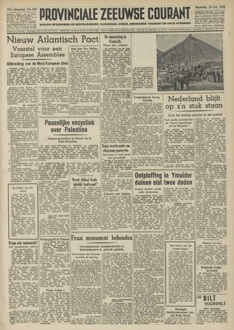 Provinciale Zeeuwse Courant 1948-10-25