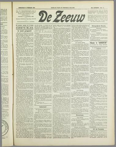 De Zeeuw. Christelijk-historisch nieuwsblad voor Zeeland 1934-02-15