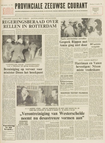 Provinciale Zeeuwse Courant 1972-08-14