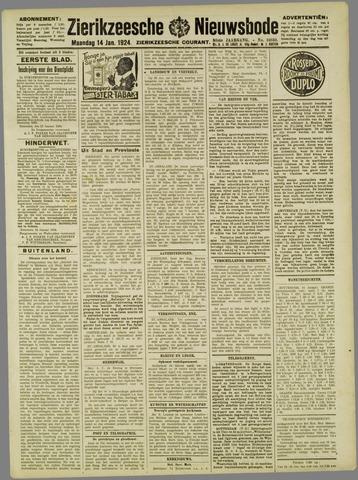 Zierikzeesche Nieuwsbode 1924-01-14