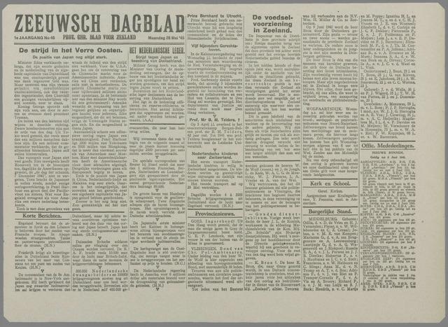 Zeeuwsch Dagblad 1945-05-28