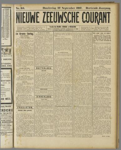 Nieuwe Zeeuwsche Courant 1917-09-27