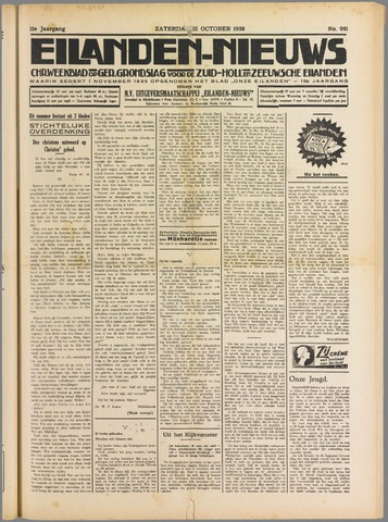Eilanden-nieuws. Christelijk streekblad op gereformeerde grondslag 1938-10-15