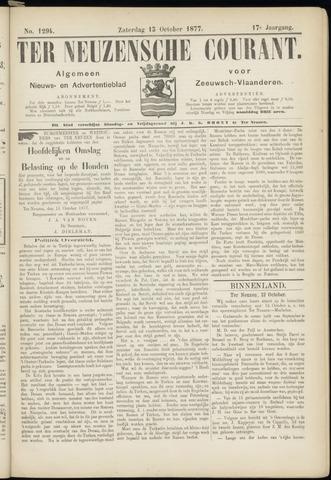 Ter Neuzensche Courant. Algemeen Nieuws- en Advertentieblad voor Zeeuwsch-Vlaanderen / Neuzensche Courant ... (idem) / (Algemeen) nieuws en advertentieblad voor Zeeuwsch-Vlaanderen 1877-10-13