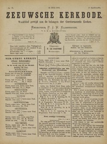 Zeeuwsche kerkbode, weekblad gewijd aan de belangen der gereformeerde kerken/ Zeeuwsch kerkblad 1888-07-21