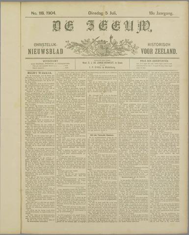 De Zeeuw. Christelijk-historisch nieuwsblad voor Zeeland 1904-07-05