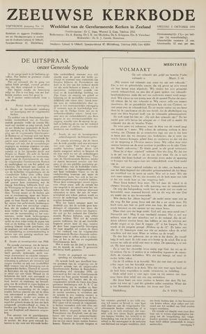 Zeeuwsche kerkbode, weekblad gewijd aan de belangen der gereformeerde kerken/ Zeeuwsch kerkblad 1959-10-02