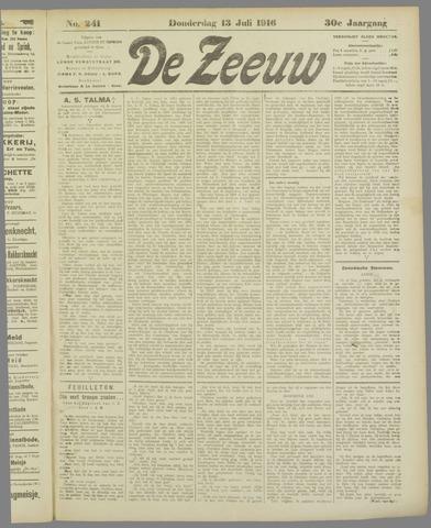 De Zeeuw. Christelijk-historisch nieuwsblad voor Zeeland 1916-07-13
