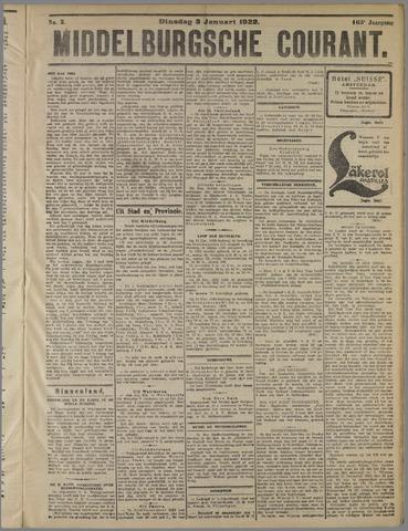 Middelburgsche Courant 1922-01-03