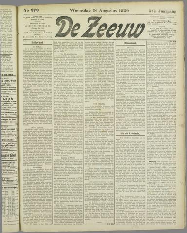 De Zeeuw. Christelijk-historisch nieuwsblad voor Zeeland 1920-08-18