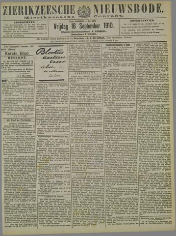 Zierikzeesche Nieuwsbode 1910-09-16