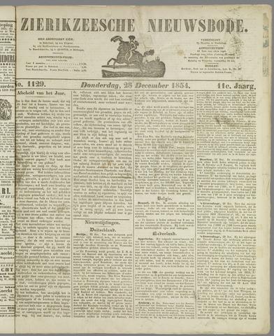 Zierikzeesche Nieuwsbode 1854-12-28