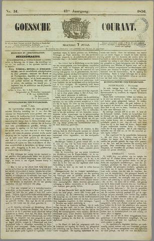 Goessche Courant 1856-07-07