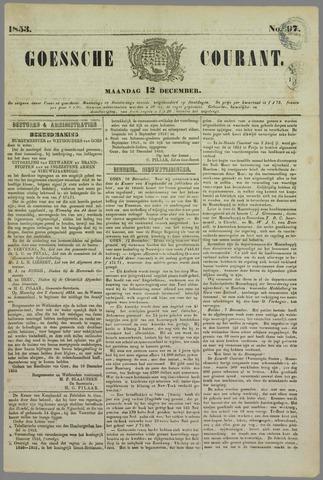 Goessche Courant 1853-12-12