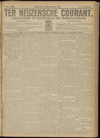Ter Neuzensche Courant. Algemeen Nieuws- en Advertentieblad voor Zeeuwsch-Vlaanderen / Neuzensche Courant ... (idem) / (Algemeen) nieuws en advertentieblad voor Zeeuwsch-Vlaanderen 1916-09-23