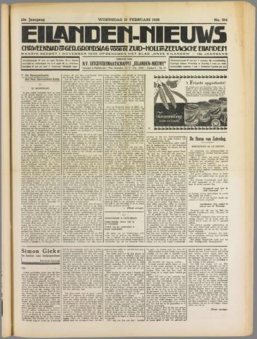 Eilanden-nieuws. Christelijk streekblad op gereformeerde grondslag 1938-02-16