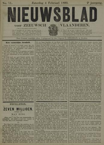 Nieuwsblad voor Zeeuwsch-Vlaanderen 1893-02-04