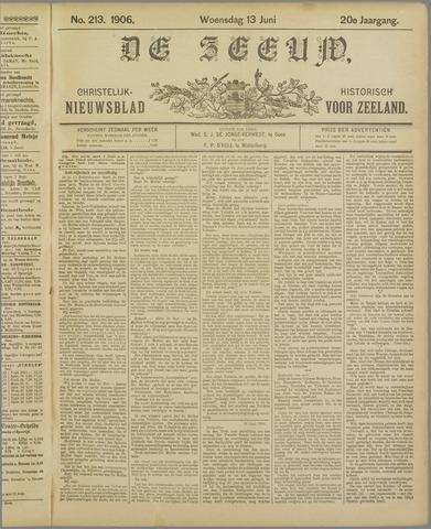 De Zeeuw. Christelijk-historisch nieuwsblad voor Zeeland 1906-06-13