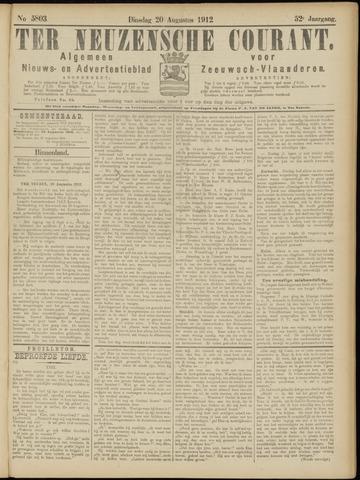 Ter Neuzensche Courant. Algemeen Nieuws- en Advertentieblad voor Zeeuwsch-Vlaanderen / Neuzensche Courant ... (idem) / (Algemeen) nieuws en advertentieblad voor Zeeuwsch-Vlaanderen 1912-08-20