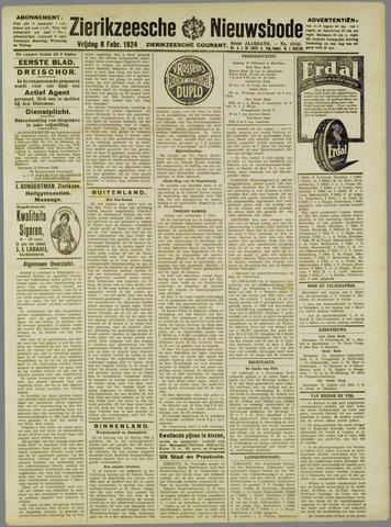 Zierikzeesche Nieuwsbode 1924-02-08