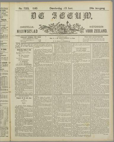 De Zeeuw. Christelijk-historisch nieuwsblad voor Zeeland 1910-06-23