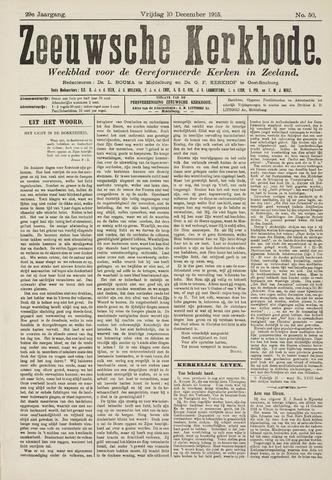 Zeeuwsche kerkbode, weekblad gewijd aan de belangen der gereformeerde kerken/ Zeeuwsch kerkblad 1915-12-10