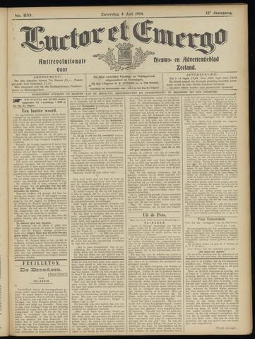Luctor et Emergo. Antirevolutionair nieuws- en advertentieblad voor Zeeland / Zeeuwsch-Vlaanderen. Orgaan ter verspreiding van de christelijke beginselen in Zeeuwsch-Vlaanderen 1914-07-04