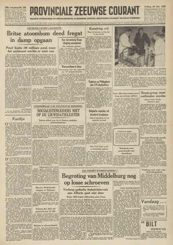 Provinciale Zeeuwse Courant 1952-10-24