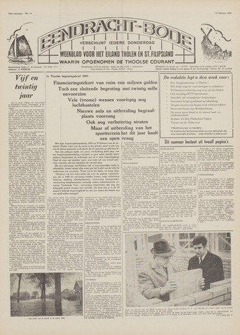 Eendrachtbode (1945-heden)/Mededeelingenblad voor het eiland Tholen (1944/45) 1969-02-27